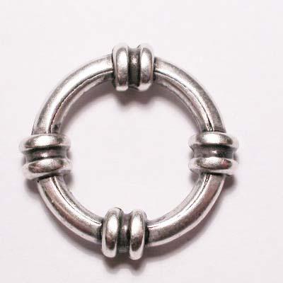 ring metaal sier oud zilver 18 mm