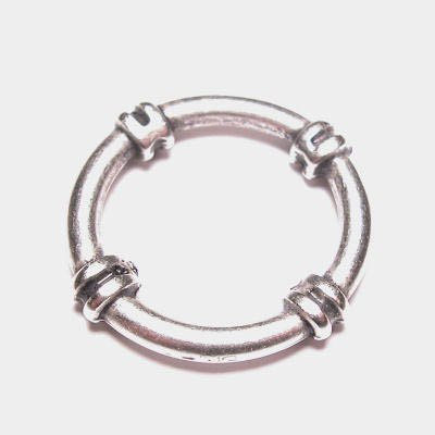 ring metaal sier oudzilver 25 mm