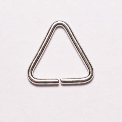 aanbuigtriangel zilver 10 mm