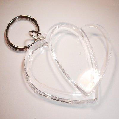 sleutelhanger hart 50x48 mm