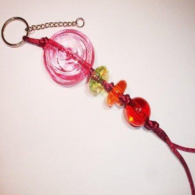sleutelhanger acryl rose ca. 20 cm