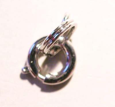 veersluiting met ring platina 6 mm