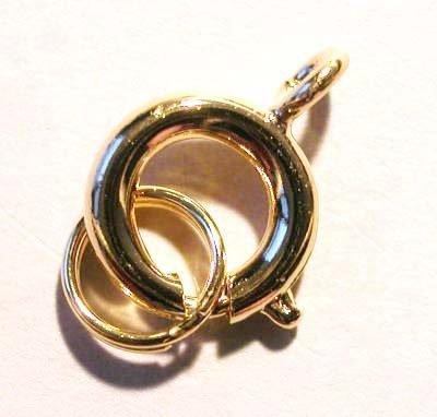veersluiting met ring goud 7 mm