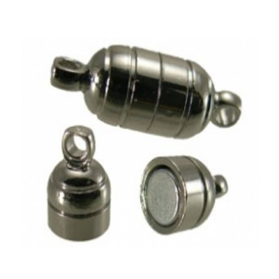 magneetsluiting  tube zilver 5,5 x 15 mm