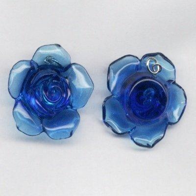 Rozenknop blauw 33x12 mm