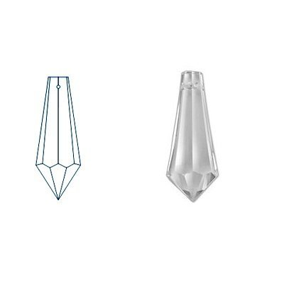 kristal hanger drop 65x21 mm crystal