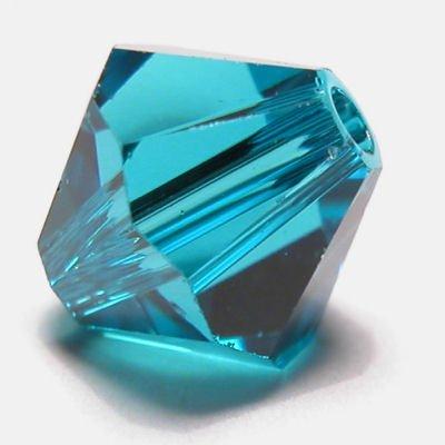 swarovski facet 4mm blue zircon
