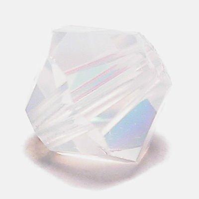 swarovski facet 4mm white opal AB