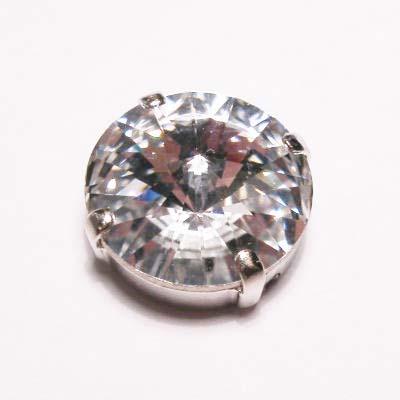 steen in kastje 14 mm  crystal