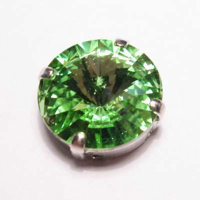 steen in kastje 14 mm peridot