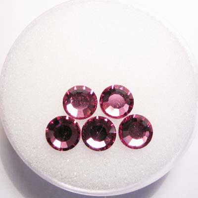 swarovski plaksteen rond rose 6 mm