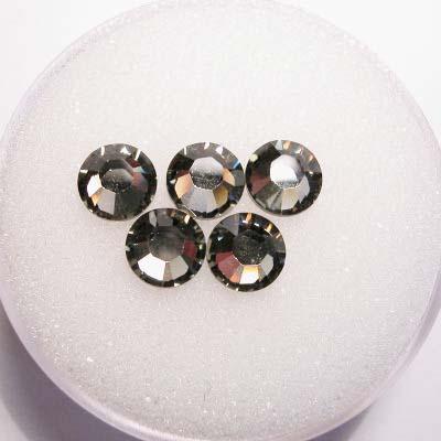swarovski plaksteen rond black diamond 6 mm