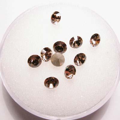 swarovski similisteen rond light topaz 4 mm
