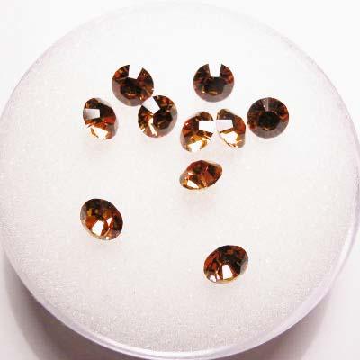 swarovski similisteen rond topaz 4 mm