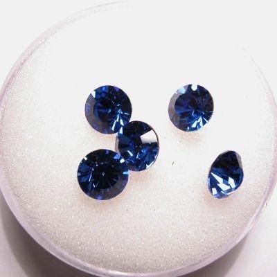 swarovski similisteen rond sapphire 6 mm
