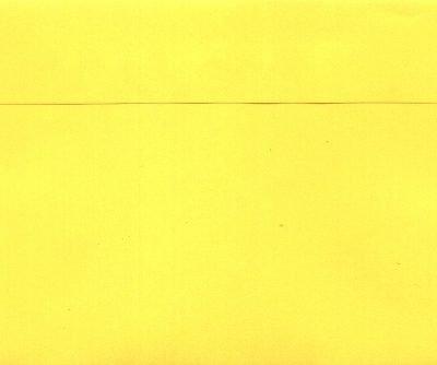 gekleurde envelop 11,5x16 cm geel
