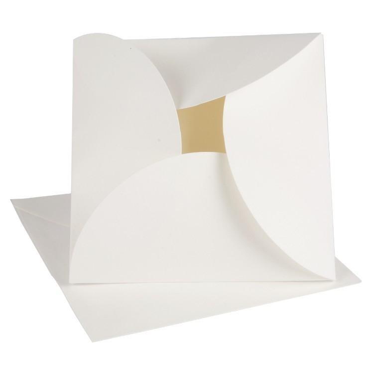vouwkaart off-white 12,5x12,5 cm