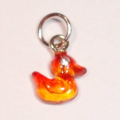 acryl eendje orange 8x 9 mm