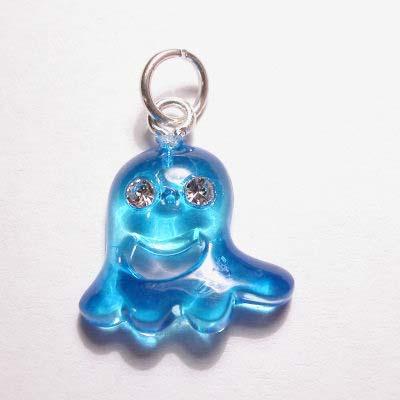 acryl spookje blauw 15x16 mm
