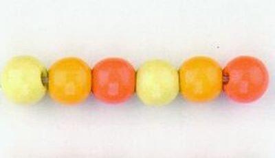 kralen mix geel 6 mm