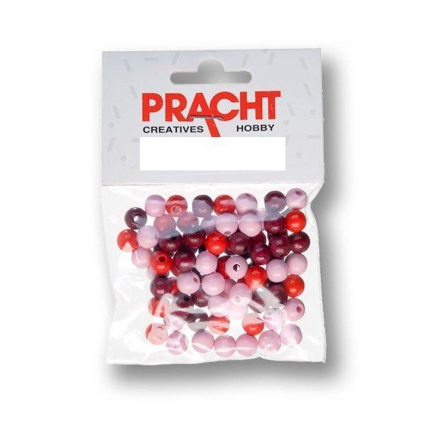 kralen mix rood 6 mm