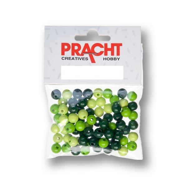 kralen mix groen 4 mm