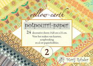 Potpourri paper boekje yellow-earth 15 x 21 cm