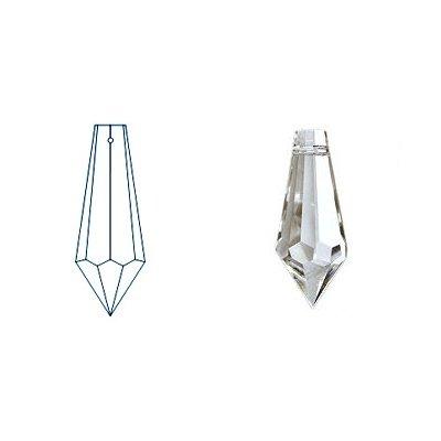 kristal hanger drop 38x13 mm lila