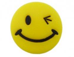 Kunststof cabochon smiley 23mm